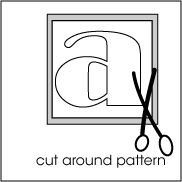Fabric Applique Tutorial With Letter Patterns.