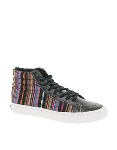 a8a326c3f9 Vans High Top Slim Sneakers Wall Stripes