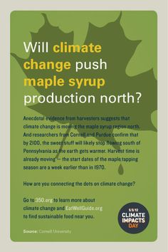 Attention sustainable restaurants! We want to let you know about how you can participate in Climate Impacts Day on May 5th, a global effort to encourage people to connect the dots between climate change and extreme weather – and how that impacts our food. Choose from three climate change postcards which can be placed in your guest check holders or shared via your Facebook or Twitter accounts. #maplesyrup www.eatwellguide.org/i.php?id=postcards