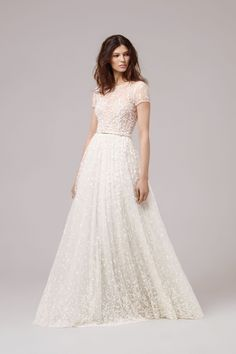 Anna Kara bridal 2017 - unique laidback belted celestial wedding dress