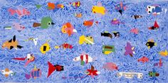 Fish Mural from Art for Small Hands, tons of age appropriate art projects  #teaching #art projects