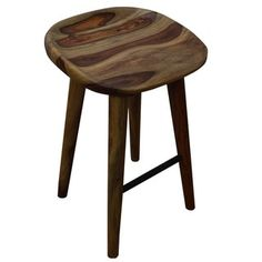 Tahoe 26-inch Solid Sheesham Wood Counter Stool | Overstock.com Shopping - The Best Deals on Bar Stools