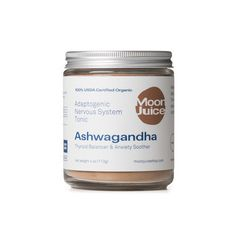 Ashwagandha is a potent root, calming the body's physiological and nervous systems. This mineral dense adaptogen aids the thyroid, soothes anxiety, improves sleep and contributes to virility.