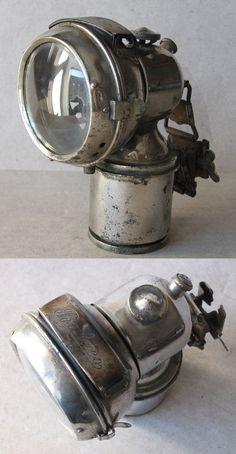 ANTIQUE GERMAN CARBIDE ACETYLENE BIKE LAMP BALACO