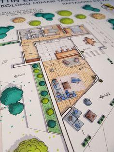 Croquis Architecture, Interior Architecture Drawing, Architecture Concept Drawings, Architecture Sketchbook, Architecture Student, Architecture Portfolio, Architecture Design, Interior Design Layout, Interior Design Presentation