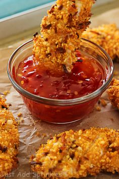 Hawaiian chicken tenders are easy to prepare, quick to bake and are full of crunchy coconut flavor. Serve with sweet chili glaze or your favorite sauce.