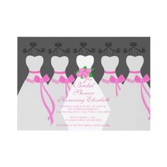 Bridesmaid and bride invitation.... change to suit the scheme and dress design of Alyce's party.