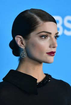 Janet Montgomery with gorgeous hairstyle.