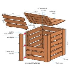 Illustration: Gregory Nemec   thisoldhouse.com   from How to Build a Compost Bin - this may be my next project