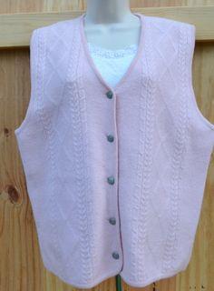 New Listing Vintage Pink Preppy Vest by founditinatlanta on Etsy, $28.00