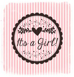 It's a girl wood stamp por QuilezStamps en Etsy, Baby Girl Born, Boy Or Girl, Its A Girl Announcement, Baby Event, Baby Clip Art, Wood Stamp, Having A Baby, Baby Cards, Mom And Dad