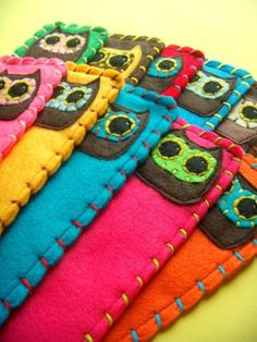 Custom Owly Bookmark  Ecofriendly Felt Owl Bookmark by Needlings, $12.00