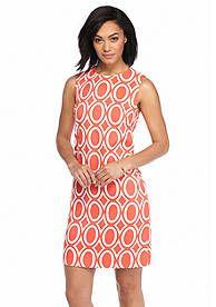 AGB Circle Print Sheath Dress