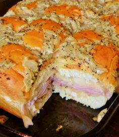 Hawaiian Baked Ham and Swiss Sandwiches ~~ good idea for Family Stocking Gift Day