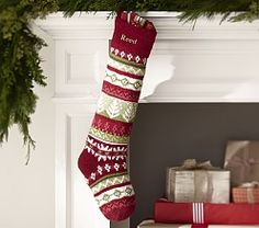 Holiday Stockings & Quilted Christmas Stockings | Pottery Barn Kids