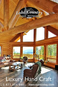 Located in British Columbia, Canada, Lake Country Log Homes your premier Log and Timber Frame home developer.