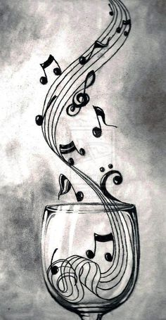 Theme musique, sound of music, music is life, music and art, music notes ar Music Drawings, Art Drawings, Pencil Drawings, Drawing Music Notes, Music Notes Art, Pencil Shading, Musik Wallpaper, Wallpaper Samsung, Music Tattoos