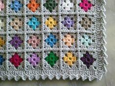 Crochet Table Runner Pattern, Crochet Baby Dress Pattern, Granny Square Crochet Pattern, Crochet Blanket Patterns, Baby Blanket Crochet, Baby Knitting Patterns, Crochet Wool, Crochet Quilt, Crochet Dishcloths