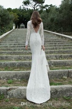 long sleeve backless lace wedding dress | ... Berta Winter 2014 Wedding Dresses Floor Length White Lace Bridal Gowns