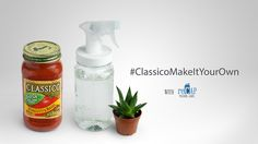 Transform your Classico® #MasonJar into a water sprayer for your plants.  #ClassicoMakeItYourOwn