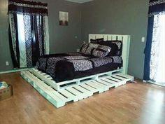 DIY pallet bed for bedroom