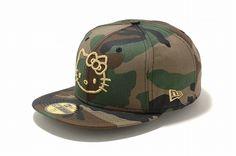 Camo Snapback Hat #HelloKitty
