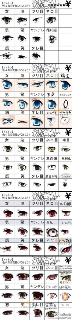 How to draw anime eyes. Interesting, considering I've never really been able to master anime.:
