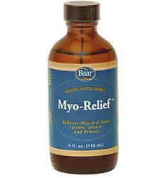 Baar Products' Myo-Relief is a uniquely formulated liniment wchich provides temporary relief of minor aches and pains associated with back, neck and shoulder strain, joint discomfort and muscle sprains and strains. Eases minor bruising, while providing deep penetrating relief.