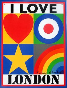 I Love Recycling Peter Blake is a gorgeous limited edition piece of pop art and signed tin plate - plus I love London by Peter Blake and I Love Vintage Peter Blake, Hamilton, Pop Art, James Rosenquist, Wessel, Beatles Albums, Unusual Presents, Claes Oldenburg, Jasper Johns
