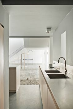 Kitchen | Renovation Gallery Valerie Traan - Antwerp, 2011 by Lensass Architects l Photographer Verne