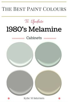 The best benjamin moore paint colours to update melamine, euro or european style cabinets with oak pulls