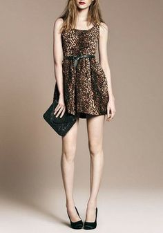 Junior fashion leopard dress