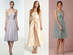 Check out hot new trends for bridesmaid dresses like flutter sleeves, two-piece dresses and tiered skirts. Tea Length Bridesmaid Dresses, Prom Dresses, Wedding Bridesmaids, 2016 Wedding Trends, 2017 Wedding, Tiered Skirts, Two Piece Dress, Wedding Gowns, Wedding Ceremony