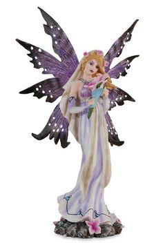 Wedding fairy - Figurine fée mariage mauve - Déco féerique