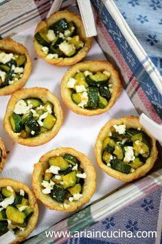Blog di cucina di Aria: Tartellette di Kamut integrale con feta e zucchine