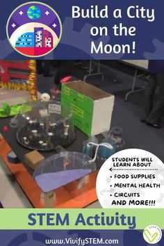 STEM Activity: Design a colony on the Moon - distance learning version! Through editable digital and printed STEM journals, students will apply scientific concepts, math skills, critical thinking, research, and engineering design to plan a long term habitat on the Moon. Math Games For Kids, Fun Math Activities, Hands On Activities, Math Skills, Math Lessons, Teaching Tips, Learning Resources, Engineering Design Process, Science Topics
