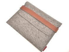 iPad Wool Felt Sleeve/Case in Granite with by PinsnNeedlesCases, $37.00