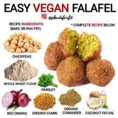 Likes, 8 Comments - Vegan Tipster Vegan Recipes Plant Based, Delicious Vegan Recipes, Vegetarian Recipes, Cooking Recipes, Easy Recipes, Vegan Falafel Recipe, Vegan Facts, Vegan Meal Plans, Vegan Nutrition
