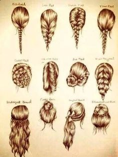 These are some cute easy hairstyles for school, or a party. (For when my hair ac… These are some cute easy hairstyles for school, or a party. (For when my hair actually grows out!) – Station Of Colored Hairs Ombré Hair, Hair Dos, Braid Hair, Bun Braid, Messy Braids, Dye Hair, Fishtail Ponytail, Simple Braids, Prom Hair