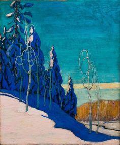 Arthur Lismer - A clear winter, 1916