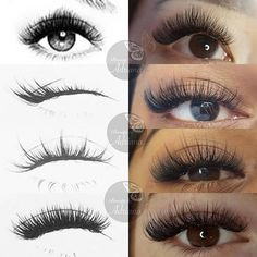 Wanted to recreate this fun look-a-like lash styles as the original got so much love (swipe to see it) which one do you like more? Drawings by Applying False Eyelashes, Applying Eye Makeup, False Lashes, Big Lashes, Thick Lashes, Fun Look, Eyelash Extensions Styles, Bottom Lash Extensions, Eyelash Sets