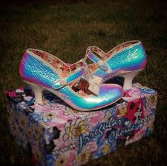 Irregular Choice Lazy River iridescent heels @v_dubbya