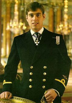 The Prince Andrew (later The Duke of York) in Naval uniform.