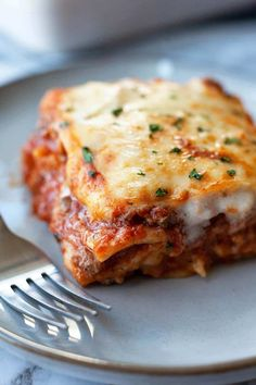 Classic Lasagna Recipe, Best Lasagna Recipe, Healthy Lasagna Recipes, Italian Recipes, Beef Recipes, Cooking Recipes, Italian Desserts, Pasta Recipes, Gastronomia
