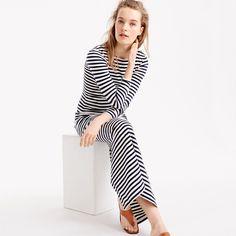 J.Crew Womens Long-Sleeve Striped Dress (Size 4)