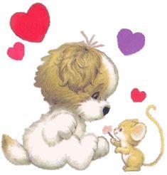 San Valentín | Día de los Enamorados | Día del Amor | frases poemas canciones de amor imágenes MINIGIFS gifs jpg WINNIE POOH SAN VALENTIN