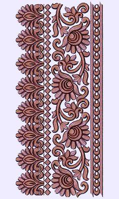 New Machine Embroidery Design 14311 Border Embroidery Designs, Cutwork Embroidery, Embroidery Dress, Machine Embroidery Designs, Stencil Designs, Henna Designs, House Gate Design, Laser Art, Native American Design