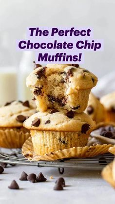 Muffin Tin Recipes, Fun Baking Recipes, Easy Bread Recipes, Cake Recipes, No Bake Desserts, Delicious Desserts, Brunch Party, Chocolate Chip Muffins, Thanksgiving Desserts