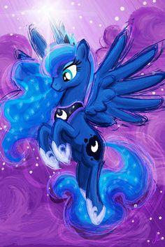 Princesa Luna  My Little Pony amistad es magia Art Print