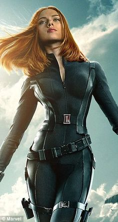 Black Widow's uniform in Captain America: The Winter Soldier.  Looks like the double thigh holster was kept from the Avengers version, but that the seam placement and costume texture is closer to what we saw in Iron Man 2.  I like the addition of panels along the torso & legs, and the smaller emblem on the belt buckle.  (Costume designer Judianna Makovsky).